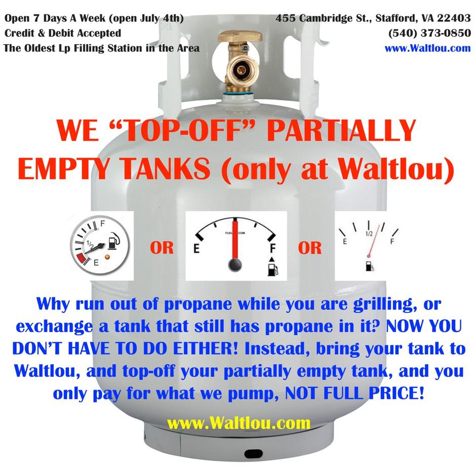 Contact Waltlou Propane |Low cost propane, 540 373 0850, Stafford